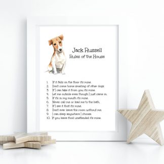 Jack Russell Dog Print