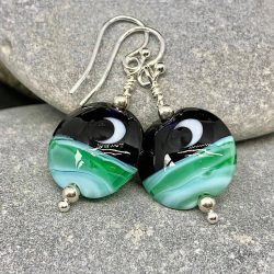 moon glass earrings