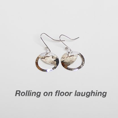 sterling silver rolling on the floor laughing drops