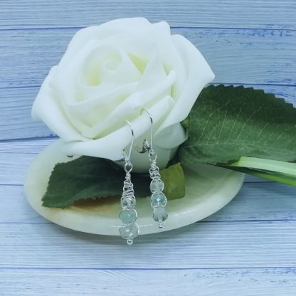Sterling Silver and Aquamarine drop earrings