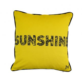 Cushion Cheetah design and word Sunshine on reverse