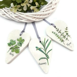 herb hearts wooden set of 3
