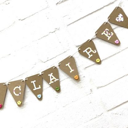mini bunting with buttons close up claire