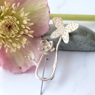 sterling silver butterfly brooch by Thistledown Wishes