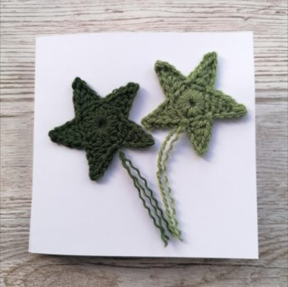 crocheted star cards
