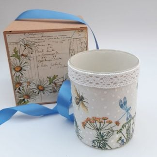 Dragonflies and Bees Tealight Holder