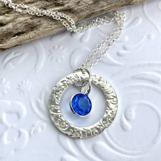 Contemporary Sterling Silver Pendant Necklace