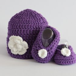 Handmade Baby Hat and Shoes