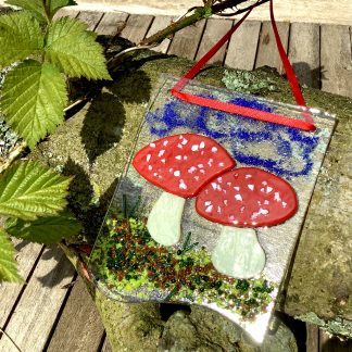 Fly agaric wall hanging