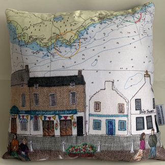 Anstruther cushion by Hannah Wisdom Textiles