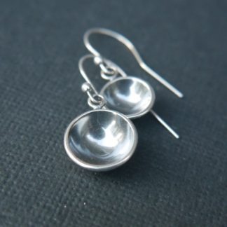 Asymmetric Mismatched Silver Earrings