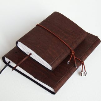 Brown Cork Journals, Ecofriendly and Vegan, A5 and A6 size