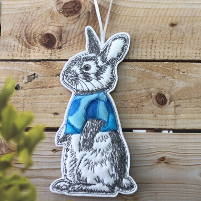 Medium bunny with blue top
