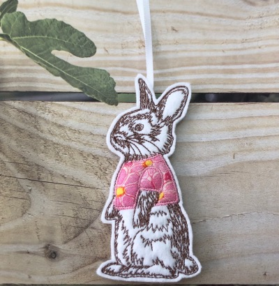 Small bunny with pink top