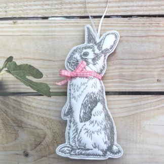 Bunny Stuffed Pink Ribbon