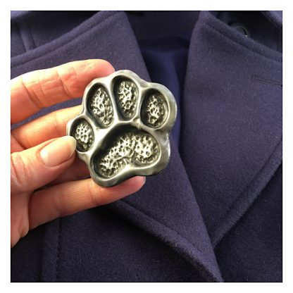 Cold-cast Pewter brooch