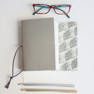Grey Guinea Fowl Feather Journal, A6