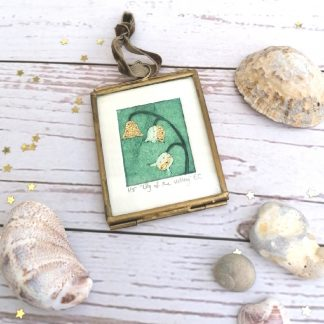 Lily of the Valley miniature collagraph print