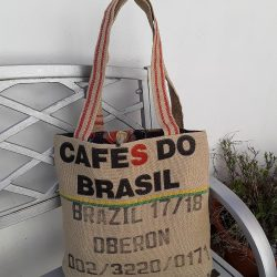 Tote bag made from coffee bean sack