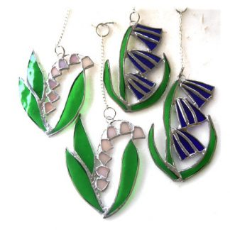 bluebell lily of the valley handmade stained glass suncatcherof thl