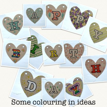 colour in ideas colour your own bunting
