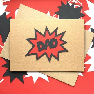 comic book bubble card dad red 1000