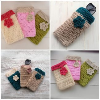 crocheted sunglasses cases