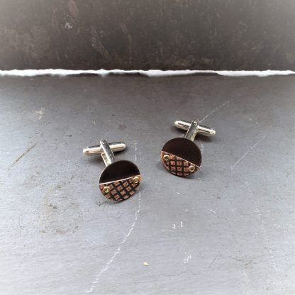 recycled-copper-cufflinks-grid-texture-anthea-yeo-metal-art