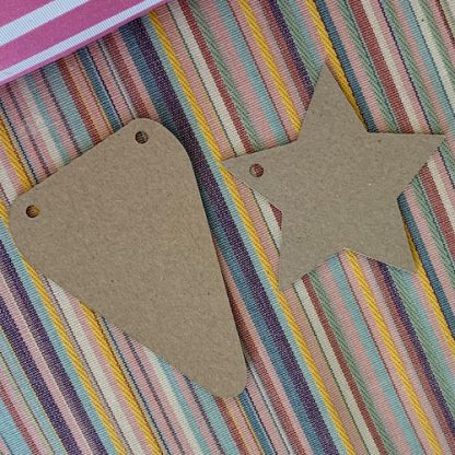 star and flag bunting shapes