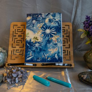Hand Bound Journal with Original Wet Cyanotype Print Covers … Daisies with Golden Highlights… Because Your Words Are Worth It