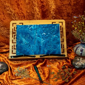 Hand Bound Sketchbook with Original Wet Cyanotype Print Covers … Umbelliferae … Because Your Work Is Worth It