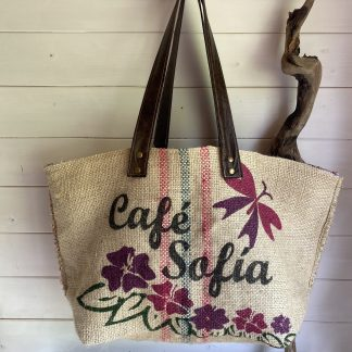 Large Beach bag Recycled from Coffee sacks
