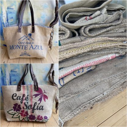 Large Beach bags Recycled from Coffee sacks