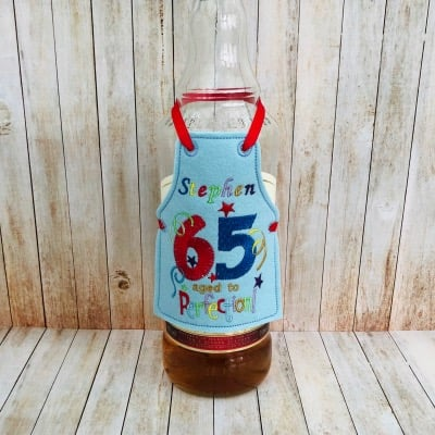 65 Aged to Perfection Bottle Apron