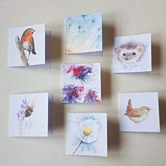 Gift cards featuring nature artwork