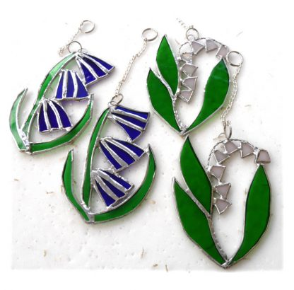 bluenell lily of the valley stained glass suncatcherh