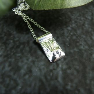 Recycled-Silver-Nugget-Necklace