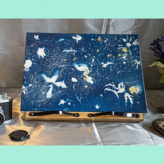 Hand Bound A4 Photograph Album with Original Wet Cyanotype Print Covers … A Treasure of Wildflowers … Because Your Memories Are Worth It
