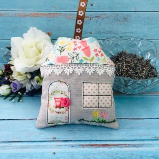 House Lavender Bag flowered roof and owl door