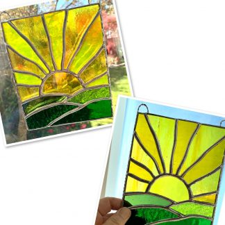 Caroles Glass stained glass sunrise panel