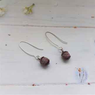 Mauve-lava-rock-recycled-copper-earrings-anthea-yeo-metal-art