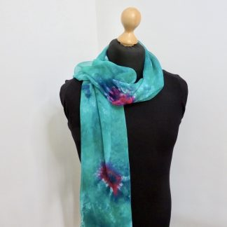 Rose-Border-Hand-Painted-Scarf