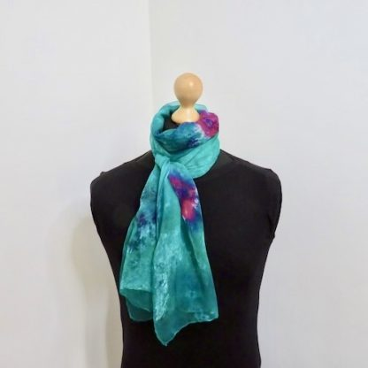 Green-Hand-Painted-Roses-Scarf