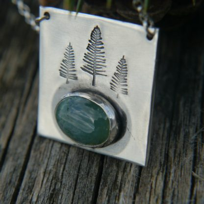 Wildwoods Moss Agate Forest Necklace