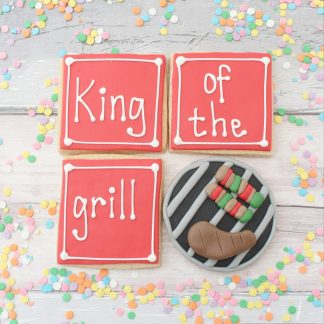 King of the grill father's day cookie gift set