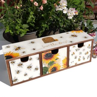save the bees wooden storage box