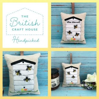 Beehive lavender bag collage with personalised bag