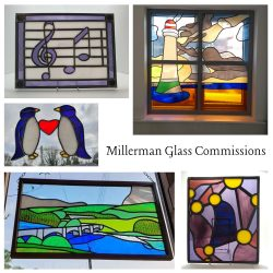 Examples of Copper Foil and Leadlight Stained Glass Artwork Commissions by Millerman Glass