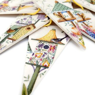Birdhouse wooden bunting by Adien Crafts