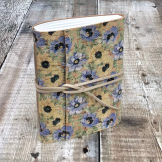 A6 cork journal with flowers